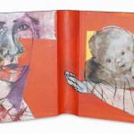 Between Reality & Utopia IX38,5 x 25 cmMixed media on book cover
