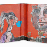 Between Reality & Utopia X38,5 x 25 cmMixed media on book cover