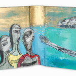 Mediterranean Sea43 x 25 cmMixed media on book cover